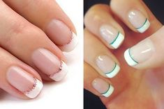 Cute Nails, Pretty Nails, Fingernail Designs, French Nails, Beauty Nails, Nail Polish, Nail Art, Hair, Ideas