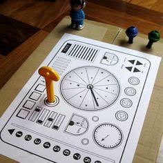 Printable spaceship control panel
