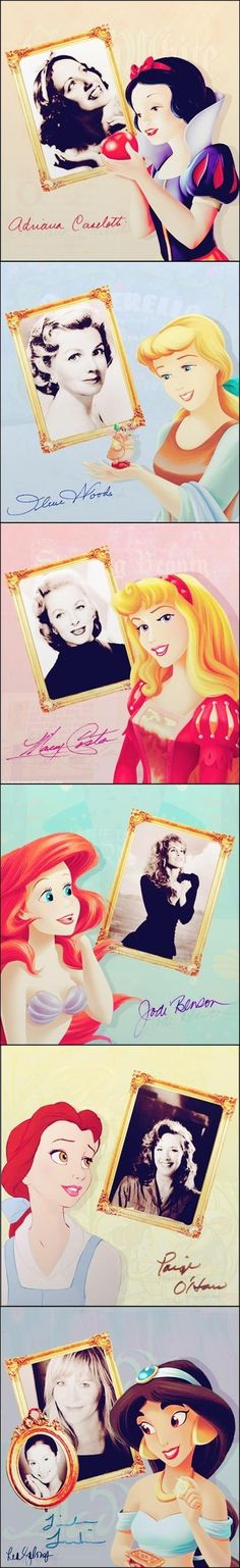 Disney Princesses and their voices