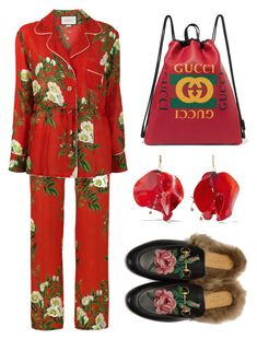 """""""SimpleRed"""" by francescaogilardi ❤ liked on Polyvore featuring Gucci and Marni"""