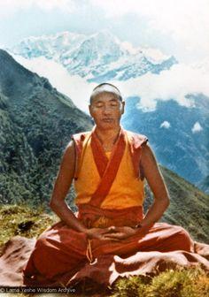 Lama Yeshe meditating