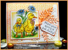 Stamps - North Coast Creations Happy Spring, ODBD Vintage Pattern Mini 1, ODBD Custom Daisy Chain Background Die, ODBD Custom Fancy Foliage Die, ODBD Custom Recipe Card and Tags Dies