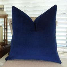 Plutus Brands Plutus Navy Handmade Throw Pillow, As Shown Handmade Throw Pillow, Floral Pillow Cover, Luxury Throws, Designer Throw Pillows, Velvet Pillow Covers, Wool Throw Pillows, Pillows, Throw Pillow Sizes, Velvet Pillows