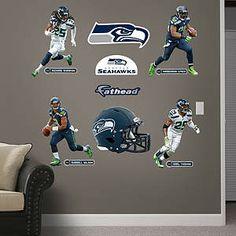Seattle Seahawks Power Pack Fathead Wall Decal - Harrison