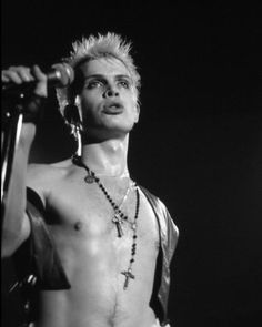 billy idol...forgive me but the man was totally sexy back in the day!