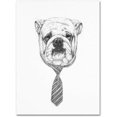 Trademark Fine Art Bulldog Canvas Art by Balazs Solti, Size: 14 x 19, Multicolor