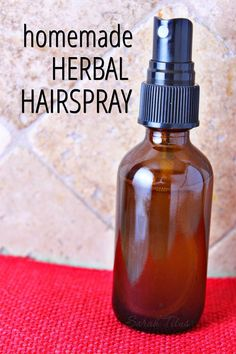 You don't need fancy chemicals to make your hair stay in place. You can use kitchen ingredients like sugar and essential oils in this homemade herbal hairspray recipe!: