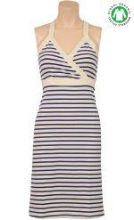 Cross back dress Breton stripe