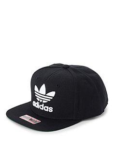 High-contrast streetwear by Adidas   Adjustable snapback style