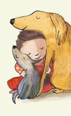 LA CASA DE POCH: Los perros y los niños #DogIllustration