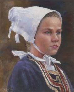 Jean-Francois Le Saint - French young reenactment Breton girl