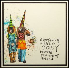 Treasured Moments of Inspiration: less is More Challenge - Friendship