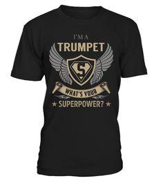 Trumpet Superpower Job Title T-Shirt #Trumpet