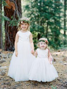 The cutest flower girl duo: http://www.stylemepretty.com/2016/03/16/whimsical-summer-wedding-at-lake-tahoe-2/ | Photography: Ryan Ray Photo - http://ryanrayphoto.com/