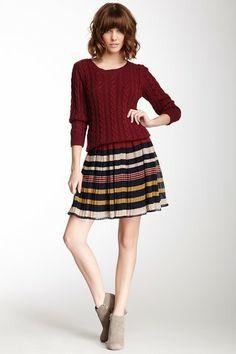 Multicolor Pleated Skirt on HauteLook