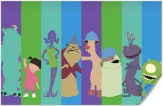 Disney Pixar Monsters Inc Poster by disneylove417 on Etsy, $10.00