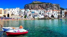 Sicily, Italy  Cefalù is a city in the Province of Palermo, located on the northern coast of Sicily on the Tyrrhenian Sea