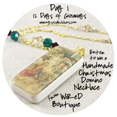 12 Days of Giveaways Day 1: Handmade Christmas Domino Necklace  http://www.mysocalledchaos.com/2014/11/12-days-of-giveaways-day-1-handmade.html