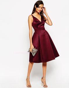 Image 4 ofASOS Satin Midi Prom Dress