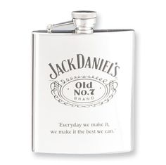 7 oz. Jack Daniel's Old No. 7 Stainless Steel Flask Perfect Gift Idea goldia. $45.58 Bar Tools, Home Kitchens, Kitchen Dining, Alcohol, Stainless Steel, Flasks, How To Make, Gifts, Jewelry