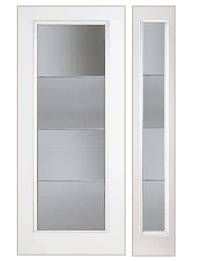 3/0 x 6/8 Smooth Skin Series: Flush Full Lite w/ Aberdeen Zinc Doorlite ------------- As a fiberglass entry door manufacturer, Plastrpo produces Smooth Skin doors that are a long lasting alternative to steel or wood doors. Made with our exclusive Hydroshield Technology™ our Smooth Skin doors will never dent, rust, or delaminate like steel. The pre-pigmented white skin resists the appearance of scratches and helps your fiberglass front door look beautiful for years to come.