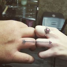 Awesome Wedding Ring Tattoos And Ideas for Couples From TattoosWin.com/