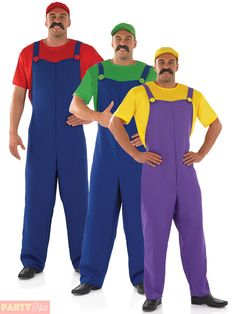 58191511385 Mario And Luigi Costumes Men & Mens Plumbers Mate Costume Adults ...