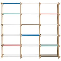 don't like the color combi here so much, but the idea itself would be nice for those ikea shelves, maybe just in bw