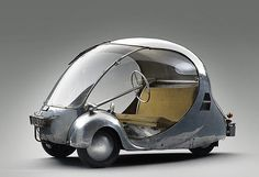 Paul Arzens L'Oeuf Electrique The Electric Egg – Old Concept Cars Minis, High Museum, Reverse Trike, City Car, Small Cars, Sidecar, Future Car, Electric Cars, Electric Vehicle