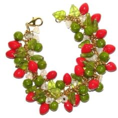 Julia Bristow strawberries bracelet from Etsy <3