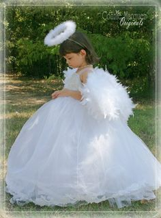 CUSTOM Angel Costume with Wings Flower Girl by ConnieLMarquez