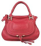 Chole 1836 Genuine leather Tote Bag Red