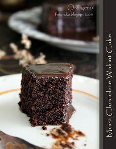 Bulgarian Recipes, Walnut Cake, Sweet Cakes, Dessert Recipes, Desserts, Chocolate Cake, Clean Eating, Cooking Recipes, Gluten Free