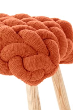 knitted wool stool by gan 4
