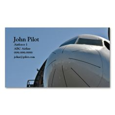 Pilot Business Card. This is a fully customizable business card and available on several paper types for your needs. You can upload your own image or use the image as is. Just click this template to get started!