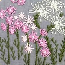 Wonderful Ribbon Embroidery Flowers by Hand Ideas. Enchanting Ribbon Embroidery Flowers by Hand Ideas. Embroidery Flowers Pattern, Hand Embroidery Stitches, Silk Ribbon Embroidery, Crewel Embroidery, Hand Embroidery Designs, Embroidery Techniques, Flower Patterns, Cross Stitch Embroidery, Embroidery Ideas
