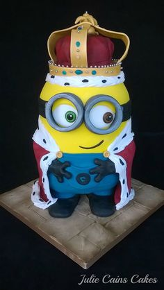 Amazing Royal Minion by Julie Cains Cakes