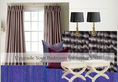 Bedroom upgrades on a budget via http://eyeseepretty.com/2013/01/07/moodboard-monday-mastering-the-master/