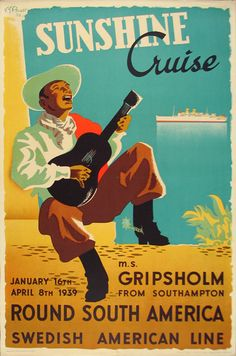 Swedish American Line Sunshine Cruise round South America