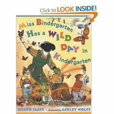 Book:  Miss Bindergarten Has a Wild Day in Kindergarten (writing)
