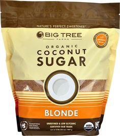 Big Tree Farms Organic Coconut Sugar -- 2 lbs pack of 2 Coconut Sugar Recipes, Organic Lawn Care, Glycemic Index, Sweet Bar, No Sugar Foods, Big Tree, Farms, Amino Acids, Healthy