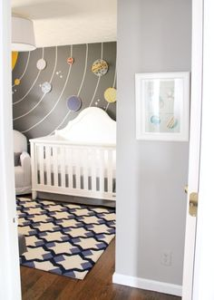 Solar system room - could work with a space theme too - nursery or kids room - this is so awesome! #kids #kidsroom