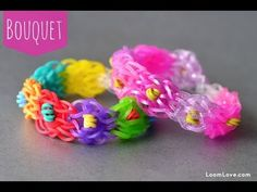 TUTORIAL... How to Make the Rainbow Loom Bouquet Bracelet