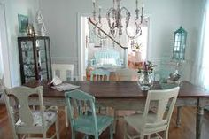 Image result for dining room tables with mismatched chairs