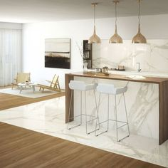 Inspiring Living Room Flooring Add to The Beauty of Your Home - BHD Inspiration Kitchen Tiles, Kitchen Decor, Living Room Designs, Living Room Decor, Diy Bathroom, Living Room Flooring, Cuisines Design, Floor Design, Interior Design Kitchen