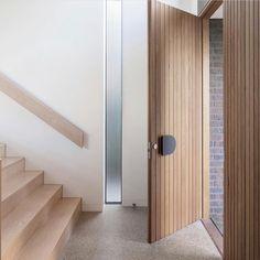 Modern Entrance Door, House Entrance, Entrance Doors, Modern Entry, Modern Front Door, Timber Front Door, Front Door Design, Modern Door Design, House Doors