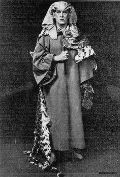 (♥) Aleister Crowley in Golden Dawn uniform, ca. 1898.