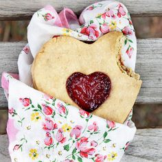 Heart-Shaped Jam Cookies