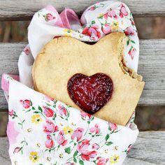 Heart-Shaped Jam Cookies