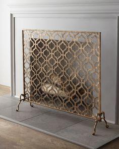 """Lexington"" Single-Panel Fireplace Screen"